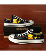 Anime Pokemon Pikachu Design Converse Hand Painted Shoes Low Top Canvas ... - $145.00