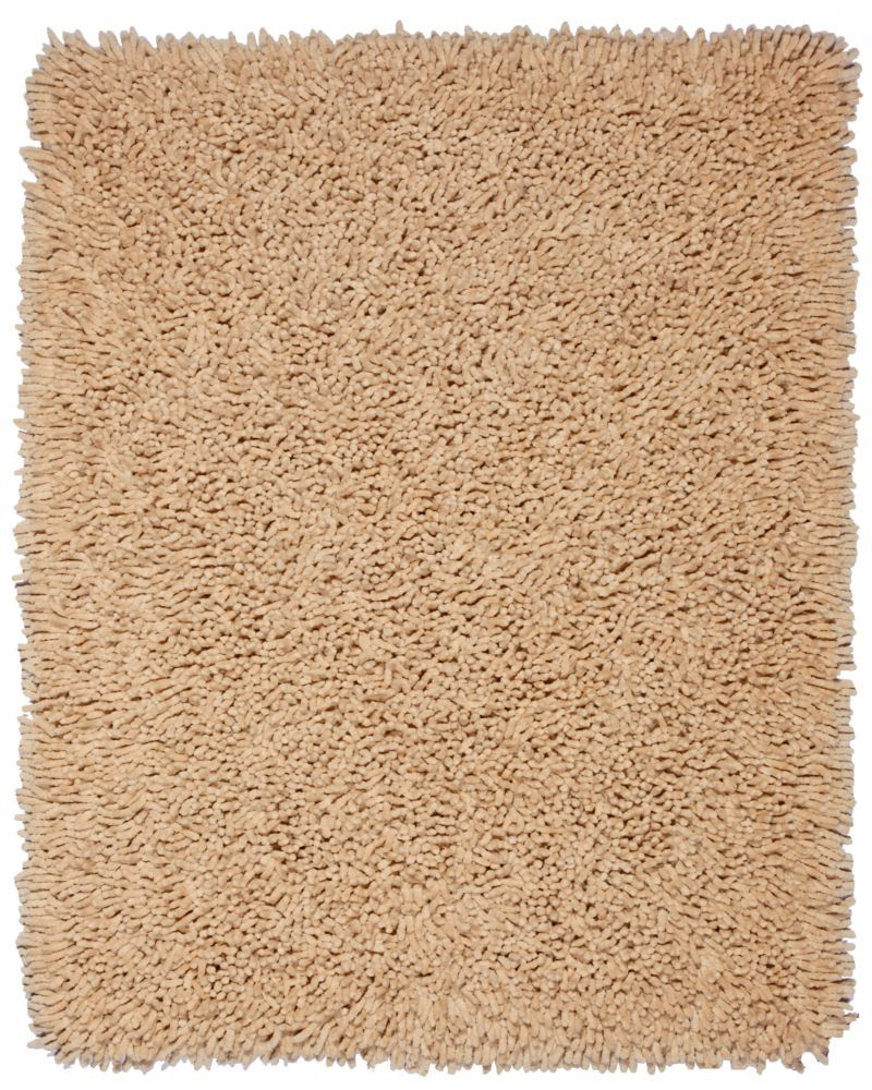 Silky Shag Beige: 50 percent Cotton, 50 percent Bamboo Rayon 5ft. X 8ft.