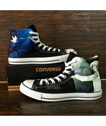 Anime Converse All Star Psycho-Pass Hand Painted Shoes Canvas Sneakers M... - $155.00