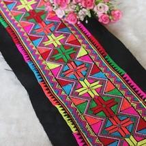 miao embroidery hand stitch cotton fabric lace 12.5cm hometextile trim d... - $8.50