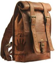 """15"""" Mens Leather Vintage Backpack Shoulder Bag Messenger Bag Rucksack Ha... - $65.73"""