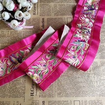 miao embroidery satin fabric lace trim 9cm dress collar ribbon tape webb... - $5.50