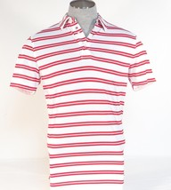 Tommy Hilfiger Golf Red & White Short Sleeve Polo Shirt Mens NEW - $37.49
