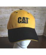 CAT Caterpillar Heavy Equipment Tractor Cap Yellow Black Baseball Hat Ad... - $27.08