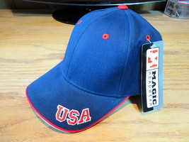 Magic Headwear USA Hat Cap Navy Blue - $4.90