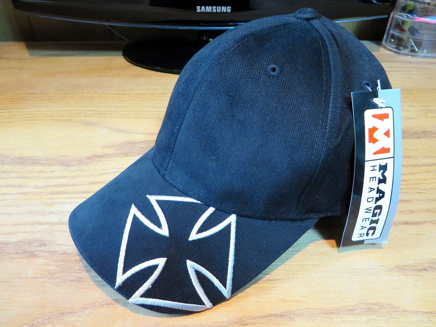 Magic Headwear Hat Cap Chopper Design Black