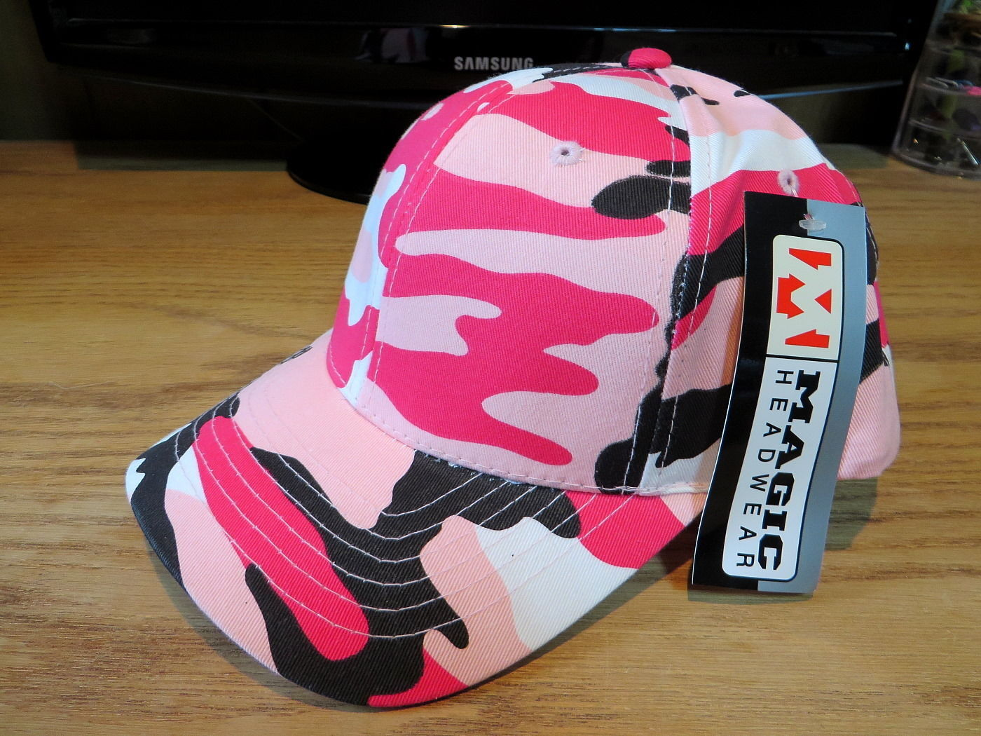 Magic Headwear Hat Cap Pink Camo