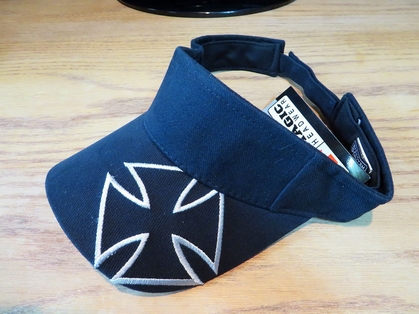 Magic Headwear Visor Hat Chopper Design Black