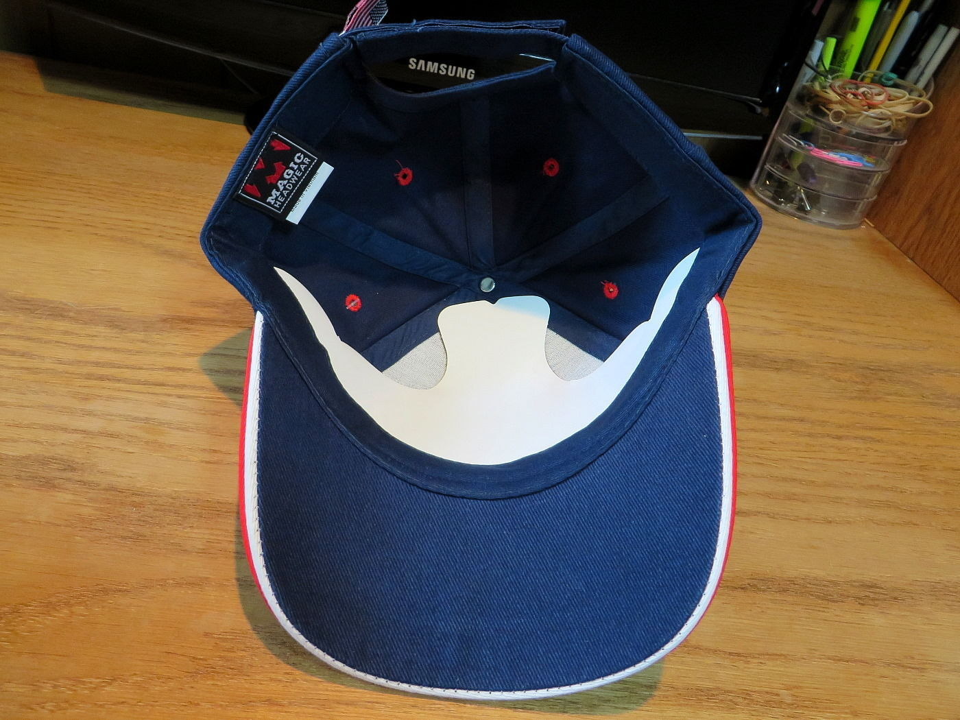 Magic Headwear USA Hat Cap Navy Blue
