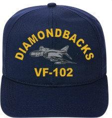 VF-102 Diamondbacks  F-4 Phantom Direct Embroidered Cap    New for sale  USA