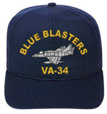 VA-34 Blue Blasters   A-4 Skyhawk Direct Embroidered Cap    New for sale  USA