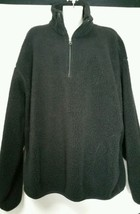 Vintage Nautica Fleece Pullover Sweatshirt Shirt Large L Grey USA Quarter Zip    - $18.68