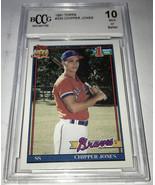 1991 Topps Chipper Jones BCCG 10 - $99.99