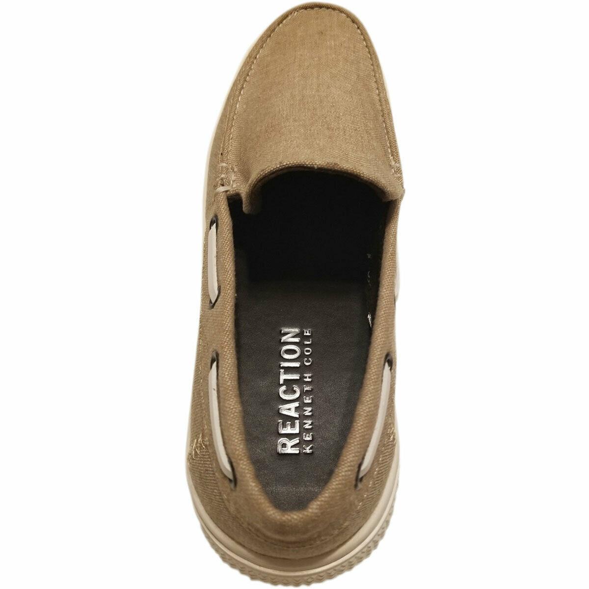 Kenneth Cole Reaction Men's Ankir Canvas Slip-on Boat Shoes Beige Sand 9.5 M ... image 6