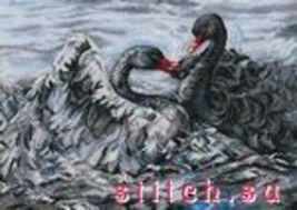 Set cross stitch RTO company Two black swans . M557 size 40/28 cm . - $30.00