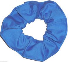 Blue Cotton Fabric Hair Scrunchie Scrunchies by Sherry Handmade USA  Ponytail - $6.99