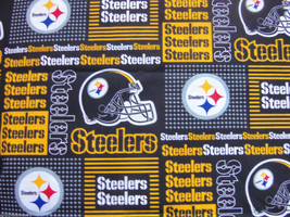 Pittsburgh Steelers Patches Fabric Hair Scrunchie Scrunchies by Sherry  - $6.99