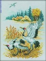 Set cross stitch RTO company Cranes . M225 size 19/25 cm . - $6.00