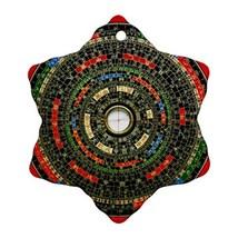Chinese Feng Shui Bagua Compass Procelain Ornaments (Snowflake) Christmas - $3.99