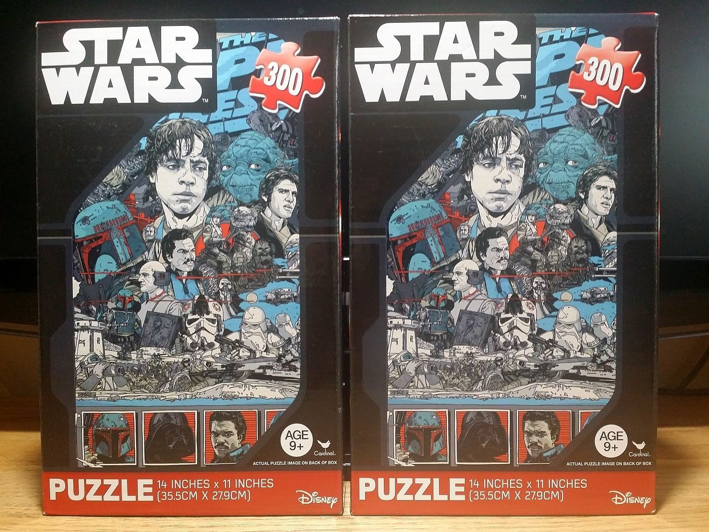Cardinal Disney Star wars Puzzle 300 Piece Lot of 2