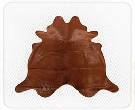 Solid Dyed Chocolate Brown Natural Brazilian Cowhide Rug - $479.00
