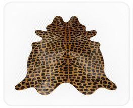 Giraffe Cowhide Medium Print Dark Brown on Caramel - $299.00
