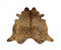 Zebra Baby Print Cowhide  Black on Caramel - $299.00