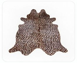 Jaguar Print Cowhide on Off White - $419.00
