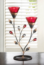 Iron Ruby Blooms Candle Holder - $25.95