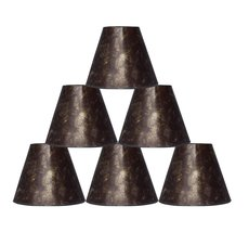 "Urbanest 3x6x5"" Mica Chandelier Lamp Shade, Amber, Set of 6 - $59.39"