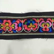 miao hand stitch crochet cotton fabric lace trim 9cm dress collar ribbon... - $8.50