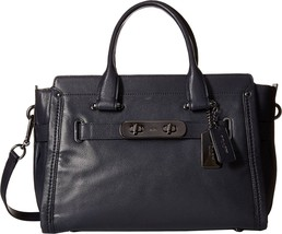 COACH Women's Soft Grain Coach Soft Swagger DK/Navy Satchel - £281.23 GBP