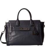 COACH Women's Soft Grain Coach Soft Swagger DK/Navy Satchel - $359.00