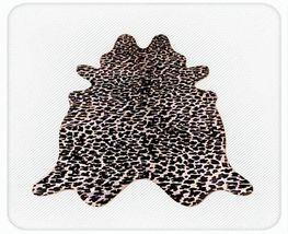 Leopard Print Cowhide  on Off White - $329.00