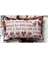 CLEARANCE Handprint On My Heart cross stitch ch... - $7.00