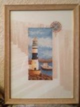 Set for embroidery stitch Lanarte Lighthouse. 34795 size 25/35 cm. - $19.00