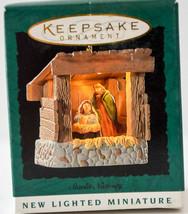 Hallmark  Starlit Nativity  1995  Miniature Keepsake Ornament - $11.18