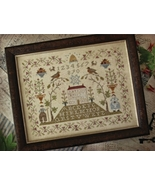 CLEARANCE Sampler Hill cross stitch chart With ... - $8.00