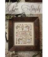 CLEARANCE Live Simply cross stitch chart With T... - $8.00