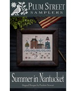 CLEARANCE Summer In Nantucket cross stitch char... - $8.00