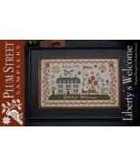 CLEARANCE Liberty's Welcome cross stitch chart ... - $12.00