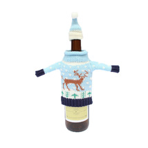Wine Bottle Cover Bags Christmas Dinner Table Decoration Party Santa Cla... - $9.99