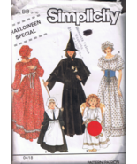 Simplicity 0418 Halloween Costumes Witch, Angel... - $5.00