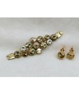 Chunky Rivoli Demi-Parure Bracelet w/ Earrings - $19.99