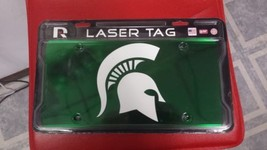 NCAA Michigan State Spartans Laser License Plate Tag - Green - $29.39