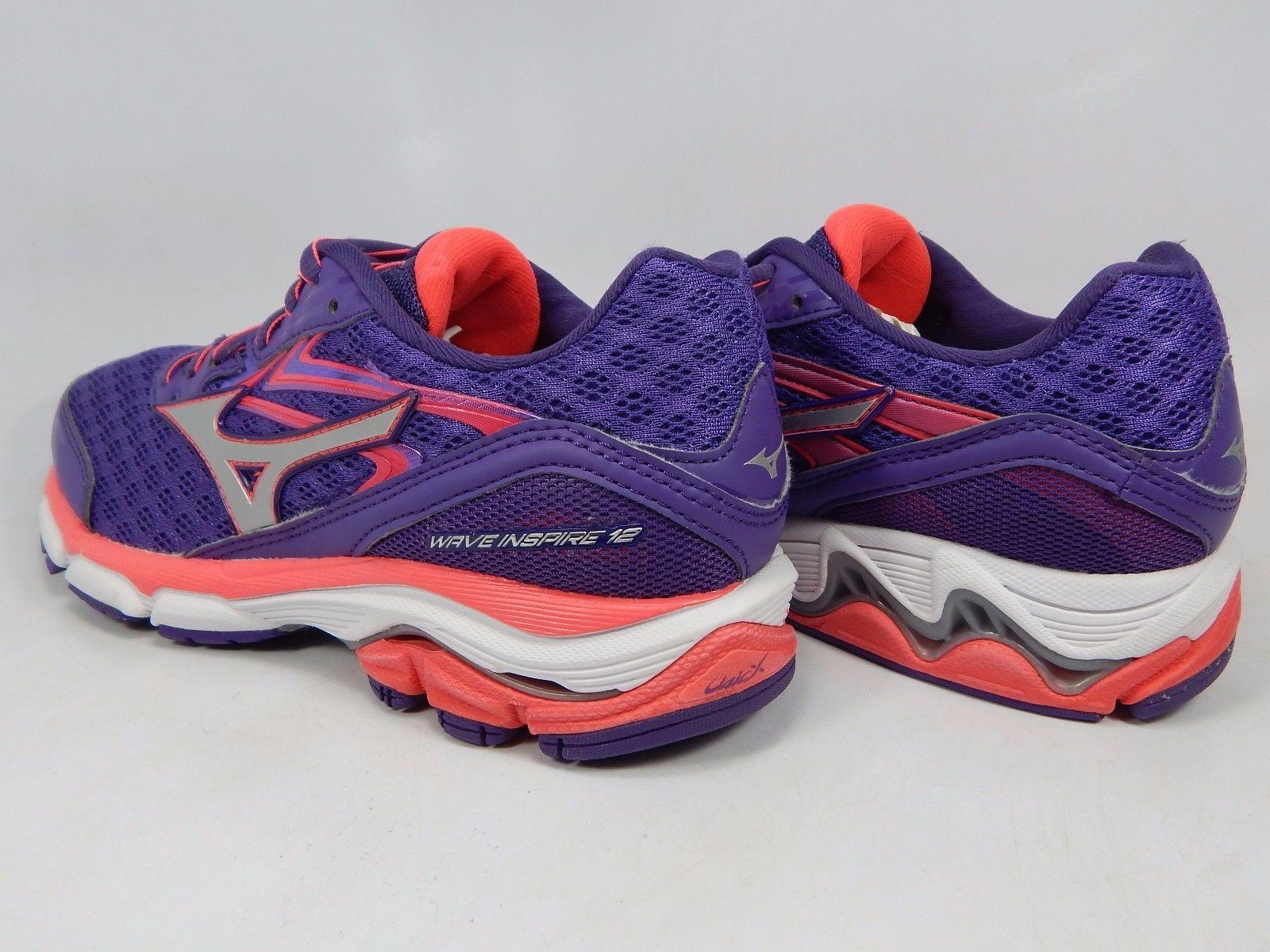 Mizuno Wave Inspire 12 Women's Running Shoes Size US 8 D WIDE EU 38.5 Purple