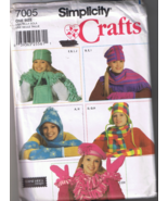 Simplicity Crafts 7005 Misses Fleece Accessorie... - $5.00