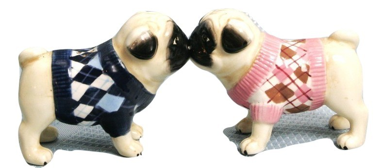 Primary image for Vintage Kissing Bulldogs Salt & Pepper Shakers