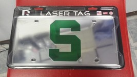 NCAA Michigan State Spartans Laser License Plate Tag - Silver - $29.39