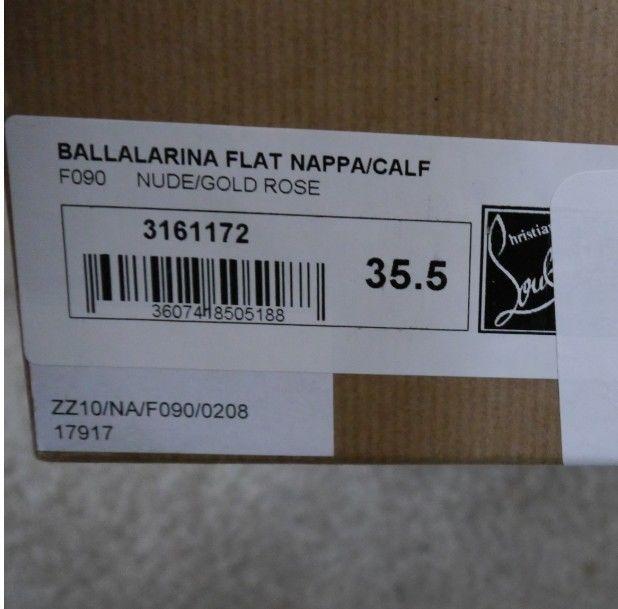 NIB 100% AUTH CHRISTIAN LOUBOUTIN BALLALARINA SPIKED BOW FLATS $695 SZ 35.5